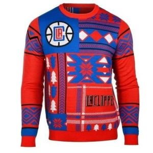 LOS ANGELES CLIPPERS PATCHES UGLY SWEATER
